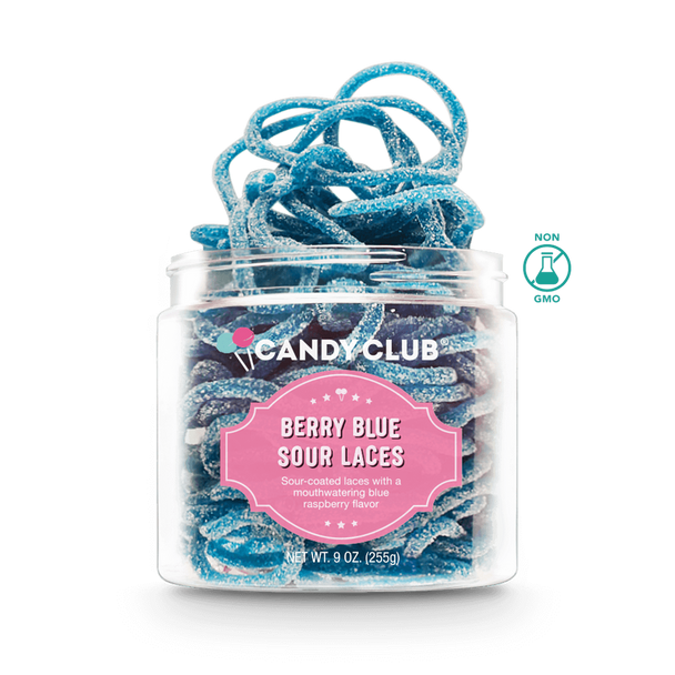 Candy Club 5 oz. Blue Sour Laces