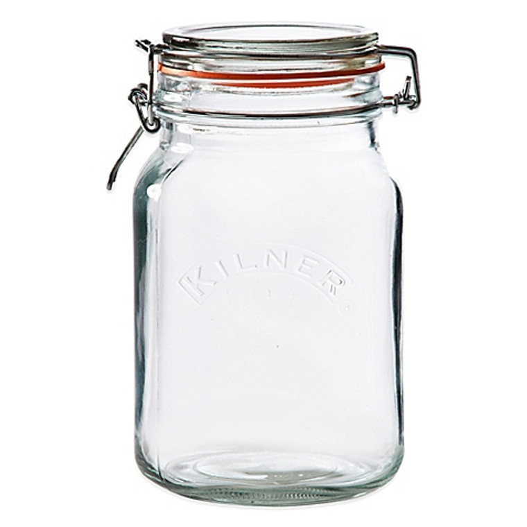 Kilner® 68 oz. Square Clip Top Canning Jar