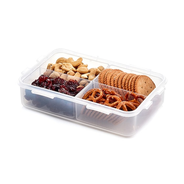Lock & Lock Easy Essentials™ 54-Ounce Divided Rectangular Food Storage Container