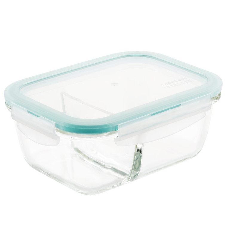 Lock & Lock Purely Better™ 25 oz. Glass Divided Food Storage Container