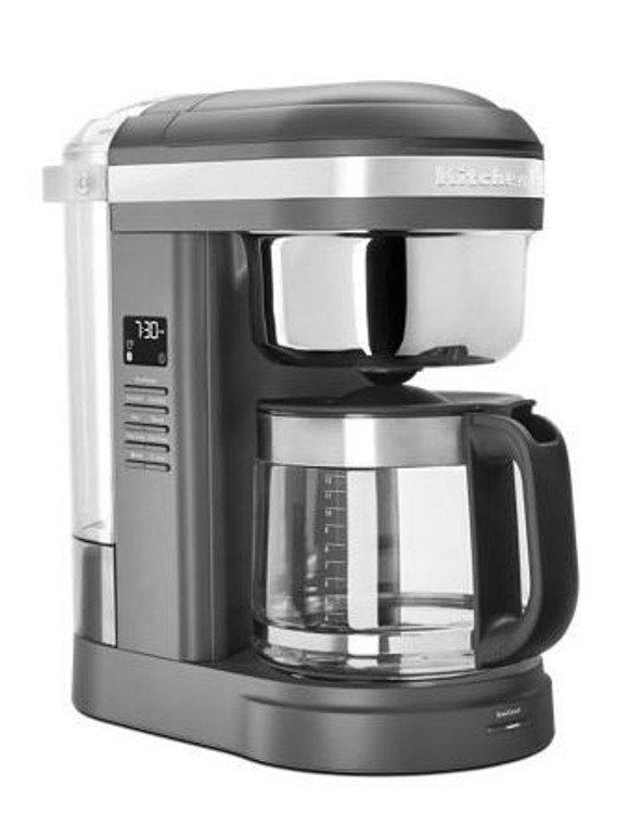 KitchenAid® 12 Cup Drip Coffee Maker with Spiral Showerhead in Matte Charcoal Grey