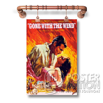 Gone With the Wind Custom Wall Art Silk Poster Wall Decor 20 x 13 Inch 24 x 36 Inch
