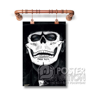 007 Spectre James Bond Skull Mask Custom Art Silk Poster Wall Decor 20 x 13 Inch 24 x 36 Inch