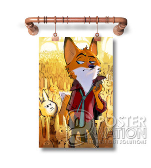 Zootopia Art Custom Art Silk Poster Wall Decor 20 x 13 Inch 24 x 36 Inch