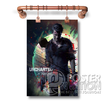 Uncharted 4 A Thief s End Custom Wall Art New Silk Poster Wall Decor 20 x 13 Inch 24 x 36 Inch