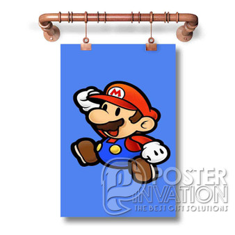 Mario Bross Art Wall Custom Silk Poster Wall Decor 20 x 13 Inch 24 x 36 Inch