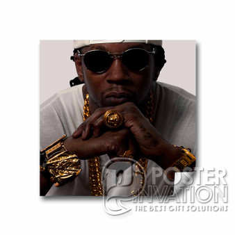 2 Chainz Custom Square Sticker Art Home Wall Decor 2 x 2 Inch 3 x 3 Inch 4 x 4 Inch 6 x 6 Inch
