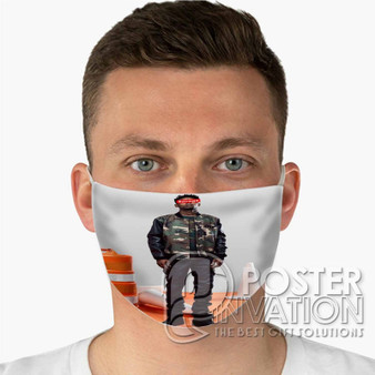 21 Savage Photo Custom Fabric Face Mask Fashionable Two Layer Polyester