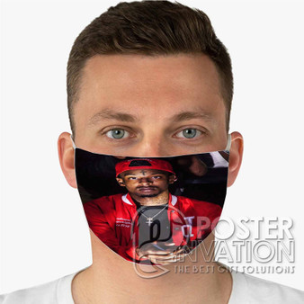 21 Savage Rapper Custom Fabric Face Mask Fashionable Two Layer Polyester