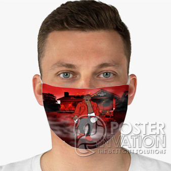 21 Savage Slaughter Gang Custom Fabric Face Mask Fashionable Two Layer Polyester