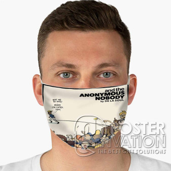 And The Anonymous Nobody Custom Fabric Face Mask Fashionable Two Layer Polyester