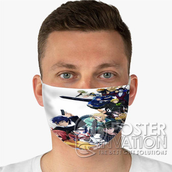 Black Bullet Custom Fabric Face Mask Fashionable Two Layer Polyester