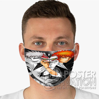 Bleach Anime Custom Fabric Face Mask Fashionable Two Layer Polyester