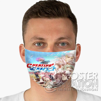 Cheating Craft Custom Fabric Face Mask Fashionable Two Layer Polyester