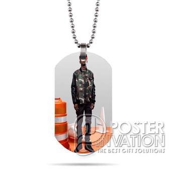 21 Savage Photo Custom Stainless Steel Military Dog Tag Necklace Pendant