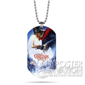 A Christmas Carol Custom Stainless Steel Military Dog Tag Necklace Pendant