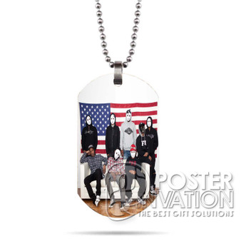 A ap Mob Custom Stainless Steel Military Dog Tag Necklace Pendant