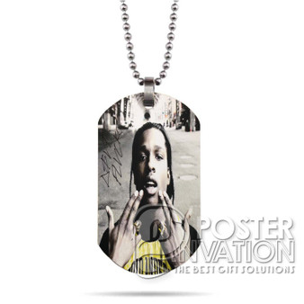 A ap Rocky 2 Custom Stainless Steel Military Dog Tag Necklace Pendant