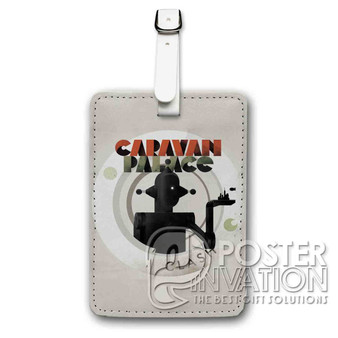 Caravan Palace Clash Custom Luggage Tag PU Leather Travel Bag Tag Strap Identity
