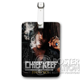 Chief Kneef Finally Rich Custom Luggage Tag PU Leather Travel Bag Tag Strap Identity