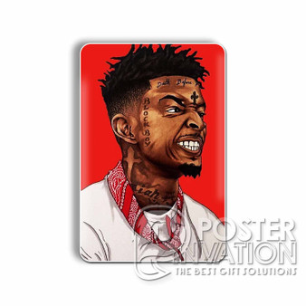 21 Savage Custom Magnet Refrigerator Home Decor 2 x 3 Inch Perfect Gift