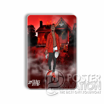 21 Savage Slaughter Gang Custom Magnet Refrigerator Home Decor 2 x 3 Inch Perfect Gift