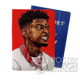 21 Savage Custom Passport PU Leather Holder Case Wallet Cover Card Slot Perfect Gift