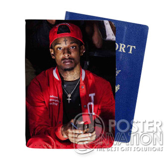 21 Savage Rapper Custom Passport PU Leather Holder Case Wallet Cover Card Slot Perfect Gift