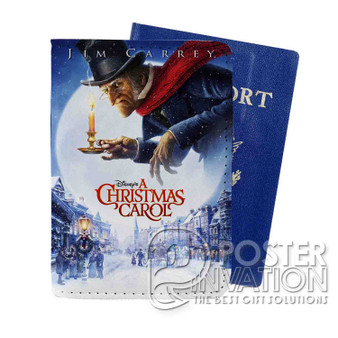 A Christmas Carol Custom Passport PU Leather Holder Case Wallet Cover Card Slot Perfect Gift