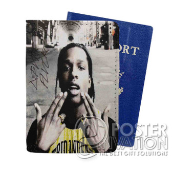 A ap Rocky 2 Custom Passport PU Leather Holder Case Wallet Cover Card Slot Perfect Gift