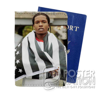 A ap Rocky Custom Passport PU Leather Holder Case Wallet Cover Card Slot Perfect Gift
