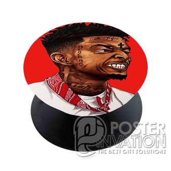 21 Savage Custom Phone Holder Pop Up Stand Out Grip Standing Pods Perfect Gift