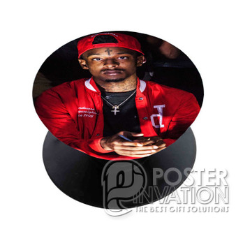 21 Savage Rapper Custom Phone Holder Pop Up Stand Out Grip Standing Pods Perfect Gift
