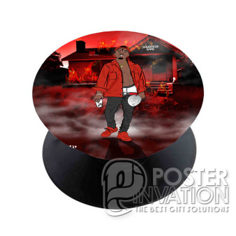 21 Savage Slaughter Gang Custom Phone Holder Pop Up Stand Out Grip Standing Pods Perfect Gift