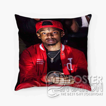 21 Savage Rapper Custom Pillow Trow Chusion Case Cover Bed and Shofa Perfect Gift