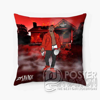 21 Savage Slaughter Gang Custom Pillow Trow Chusion Case Cover Bed and Shofa Perfect Gift
