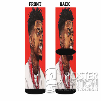 21 Savage Custom Socks Sublimation Sports Game Sporting Goods Perfect Gift