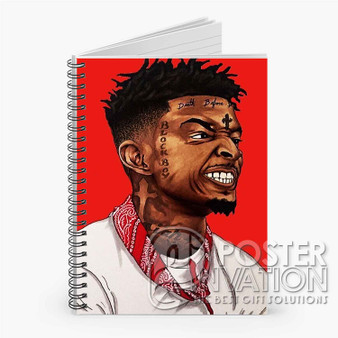 21 Savage Custom Spiral Notebook Ruled Line Front Cover Book Case Perfect Gift