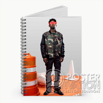 21 Savage Photo Custom Spiral Notebook Ruled Line Front Cover Book Case Perfect Gift