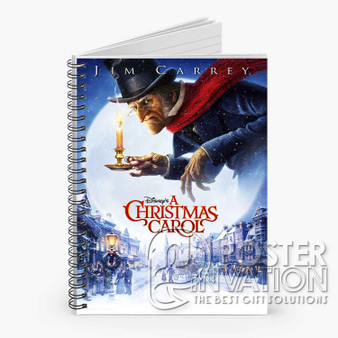 A Christmas Carol Custom Spiral Notebook Ruled Line Front Cover Book Case Perfect Gift