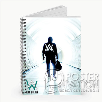 Alan Walker Custom Spiral Notebook Ruled Line Front Cover Book Case Perfect Gift