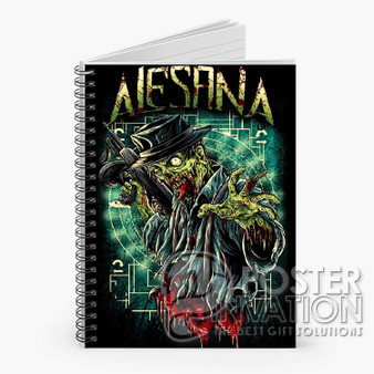 Alesana Custom Spiral Notebook Ruled Line Front Cover Book Case Perfect Gift