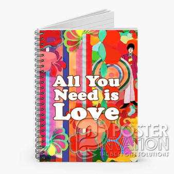 All You Need is Love Custom Spiral Notebook Ruled Line Front Cover Book Case Perfect Gift