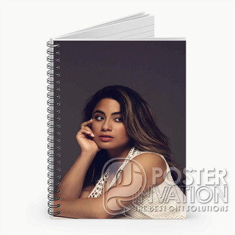 Ally Brooke Fifth Harmony Custom Spiral Notebook Ruled Line Front Cover Book Case Perfect Gift