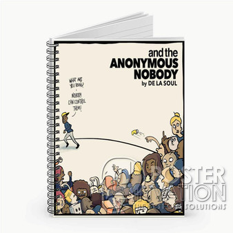 And The Anonymous Nobody Custom Spiral Notebook Ruled Line Front Cover Book Case Perfect Gift