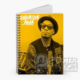Anderson Paak Custom Spiral Notebook Ruled Line Front Cover Book Case Perfect Gift