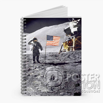 Apollo 15 Salute Custom Spiral Notebook Ruled Line Front Cover Book Case Perfect Gift