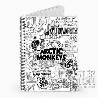 Arctic Monkeys Quotes Custom Spiral Notebook Ruled Line Front Cover Book Case Perfect Gift