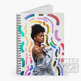 Ari Lennox Pho Custom Spiral Notebook Ruled Line Front Cover Book Case Perfect Gift