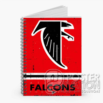 Atlanta Falcons NFL Custom Spiral Notebook Ruled Line Front Cover Book Case Perfect Gift
